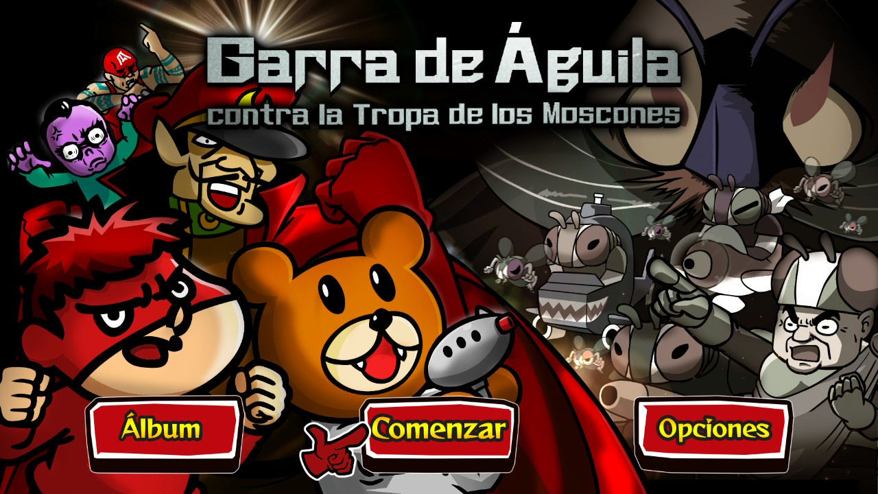 Last year saw the release of the2D  puzzle action game, EAGLETALON vs. HORDE OF THE FLIES, brought to you by DLE & DICO. Now, we will be releasing a Spanish (Spain/Latin America) version of the game.
