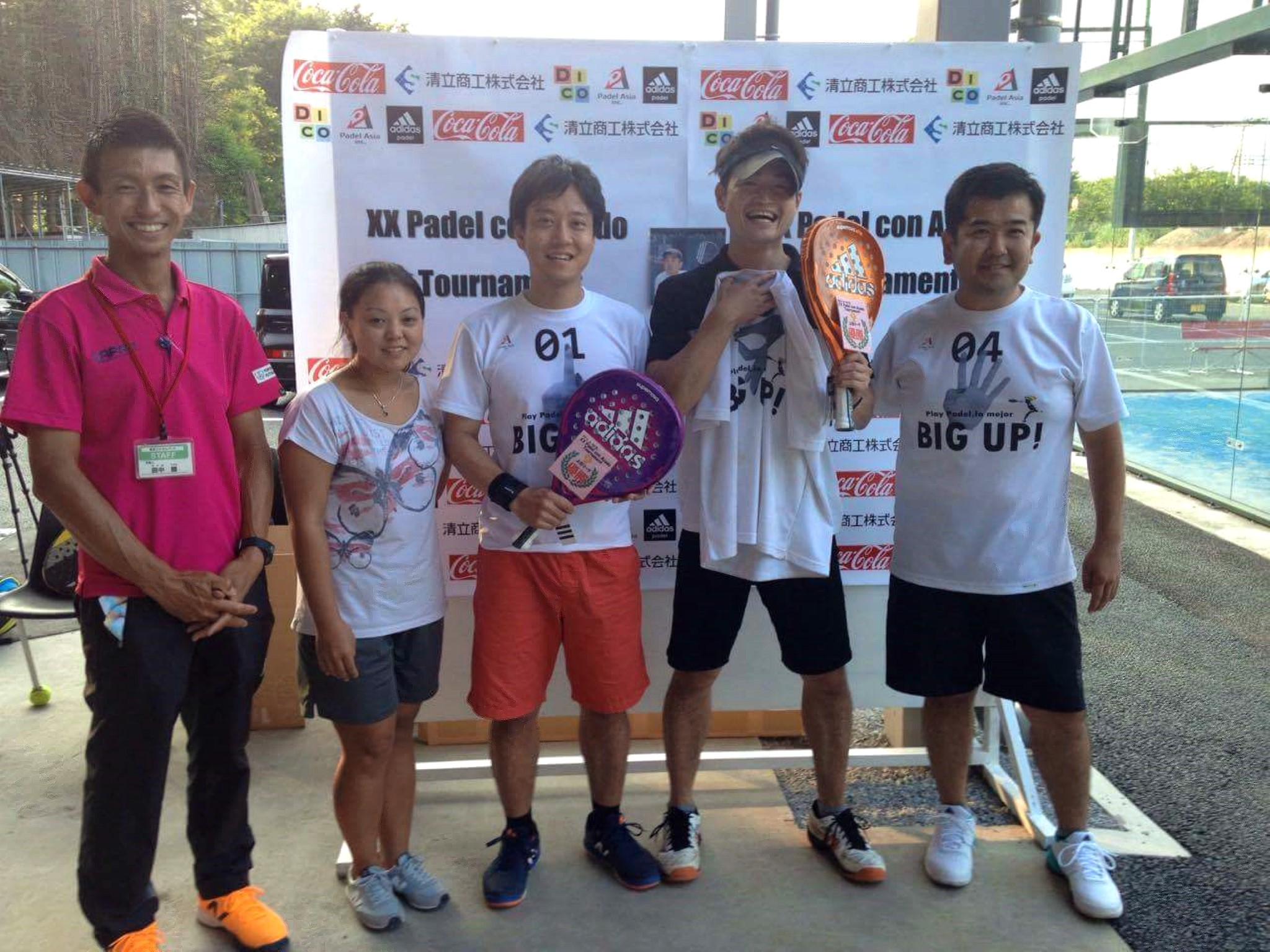 DICOは、世界的に人気急上昇中のラケットスポーツ「パデル」が、日本上陸3年目を記念した『アディダスパデル大会』の公式スポンサーを務めました。